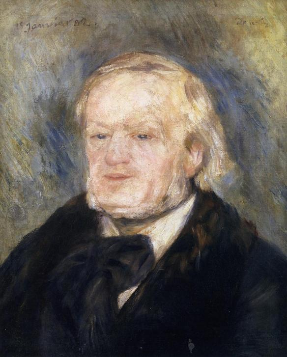 """Richard Wagner"" (1882) by Pierre-Auguste Renoir. Oil on canvas, Musée d'Orsay, Paris, France"