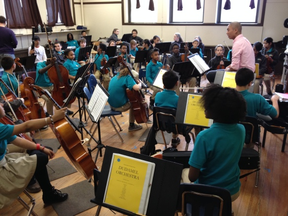 "The ""Dudamel Orchestra"" at the Conservatory Lab Charter School, one of eight El Sistema USA nucleos in Boston."