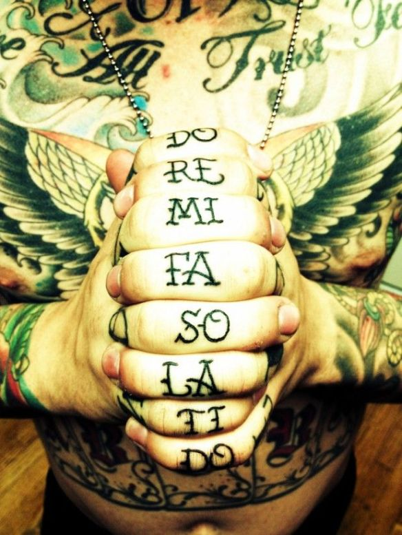 solfege tatoo